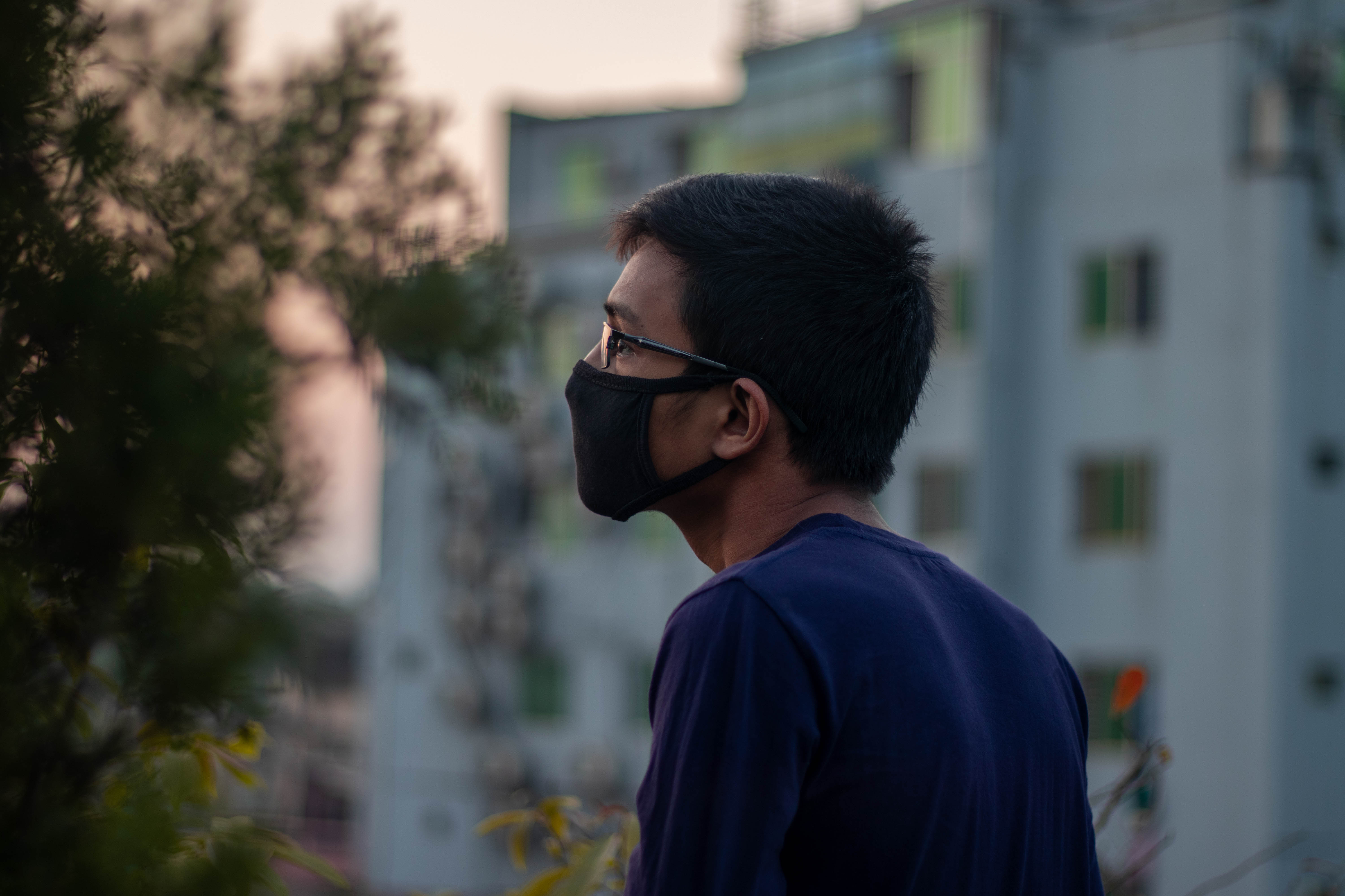 Bangladeshi boy wearing protection face mask against coronavirus outbreak COVID-19. Banner panorama medical staff preventive gear.People of Bangladesh wearing mask to protect themselves from covid-19
