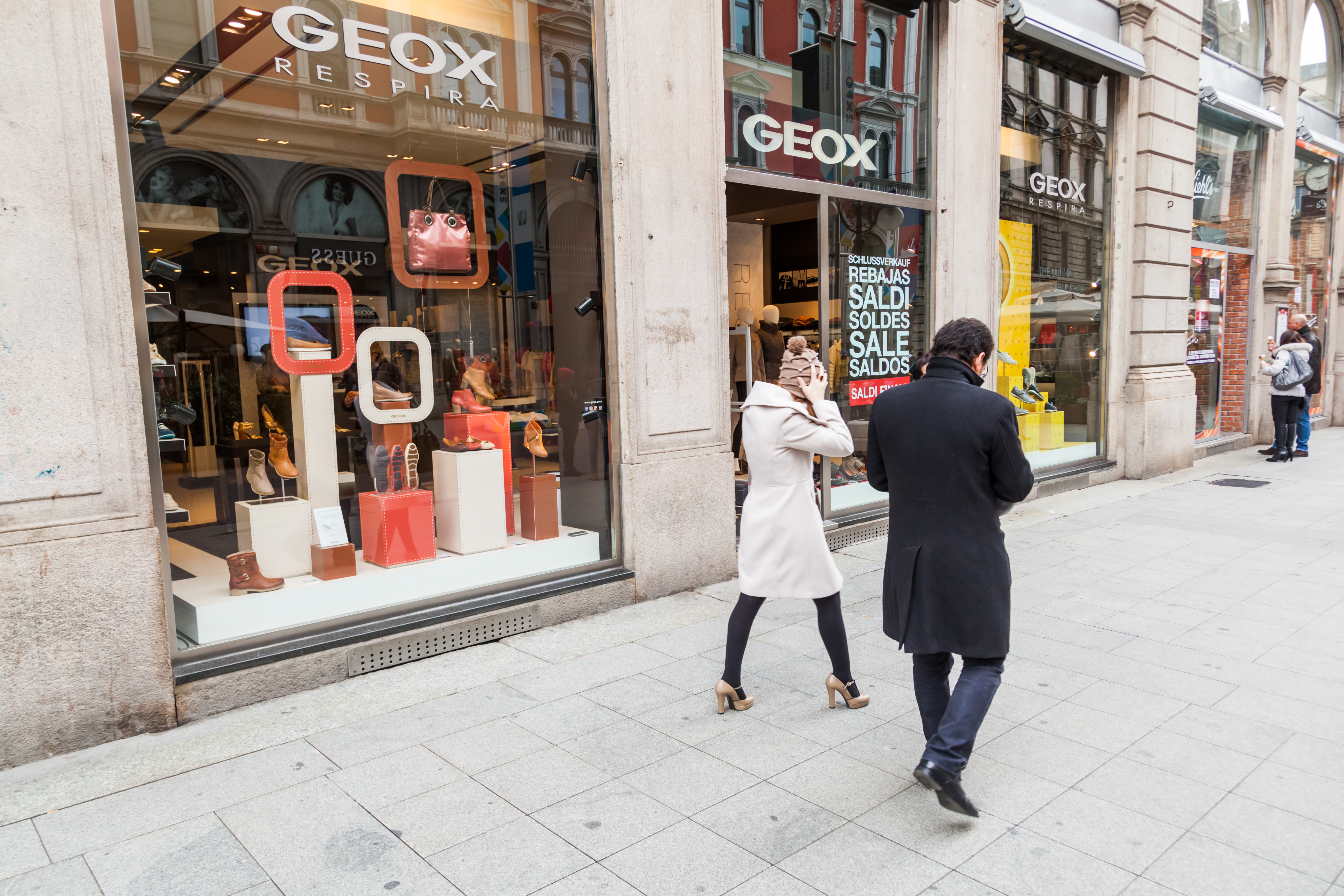 Italian footwear brand Geox is closing stores amid COVID-19's rapid spread that has restricted movement and commerce across the country.