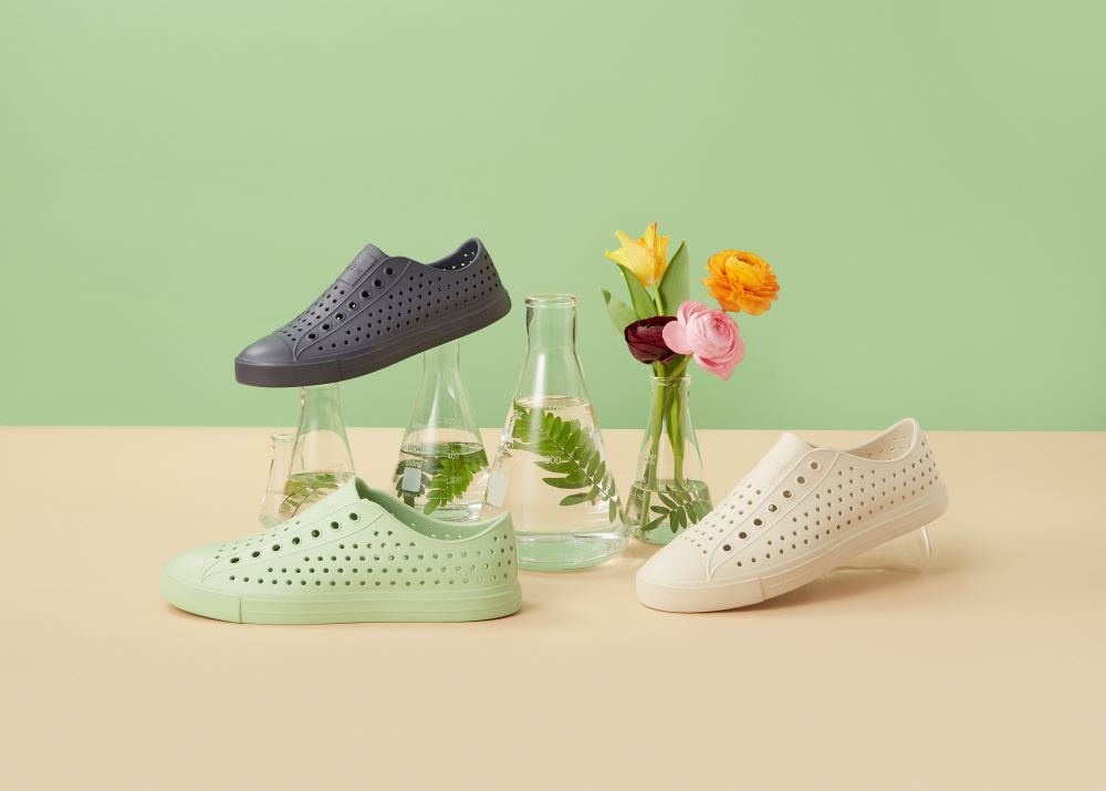 Native Shoes is expanding its landmark Bloom shoe line with new styles made from lightweight algae EVA.