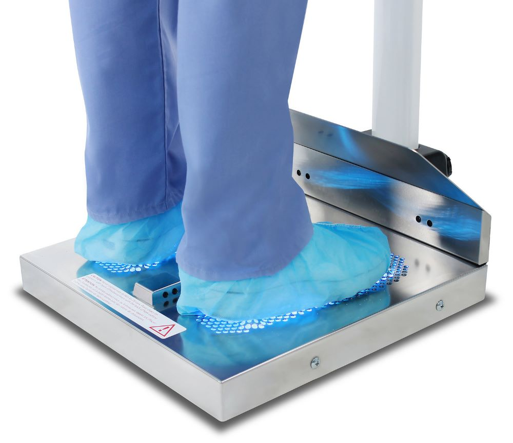 New footwear cleaning device HealthySole Plus is said to remove 99.5 percent of the coronavirus from footwear with ultraviolet light.