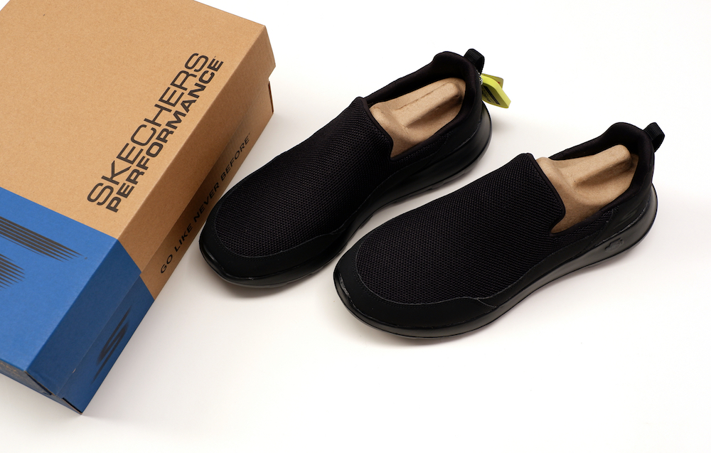 Footwear brand Skechers is putting a lid on packaging waste by shifting away from plastic and toward eco-friendly recyclable materials.