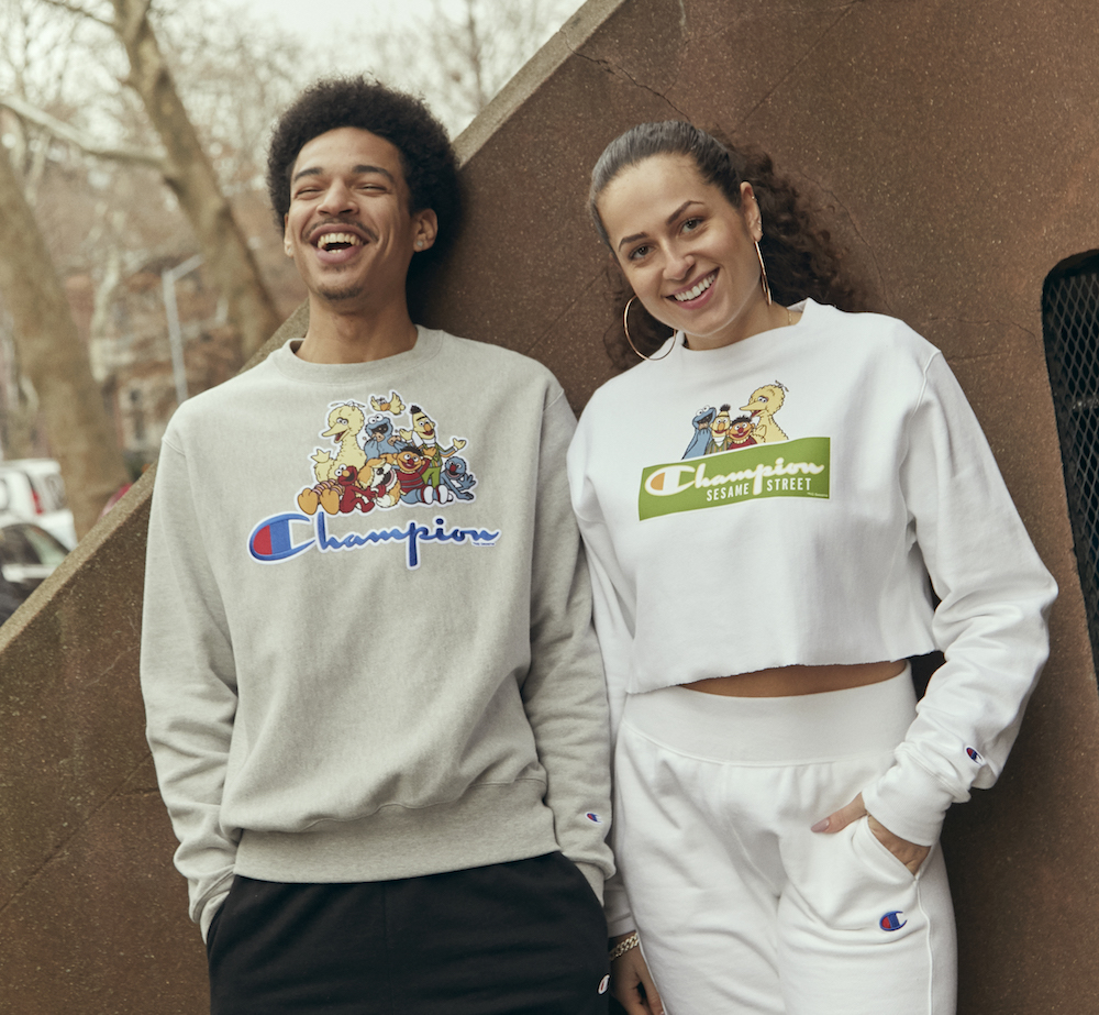 Champion and Sesame Street collaborated on a nostalgic new collection of sweatshirts, hoodies and joggers for men, women and children.
