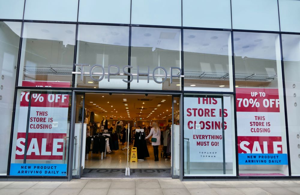 Topshop owner Arcadia Group and Asos are some of the fashion retailers that are canceling supplier orders as a coronavirus coping strategy.