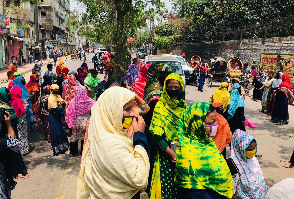 Garment factories in Bangladesh will remain closed through April, BGMEA president Rubana Huq says, as coronavirus cases continue to climb.