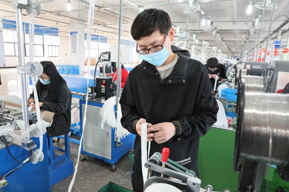 The ongoing coronavirus pandemic is posing problems for China's production orders, which are shrinking and dragging its exports down.