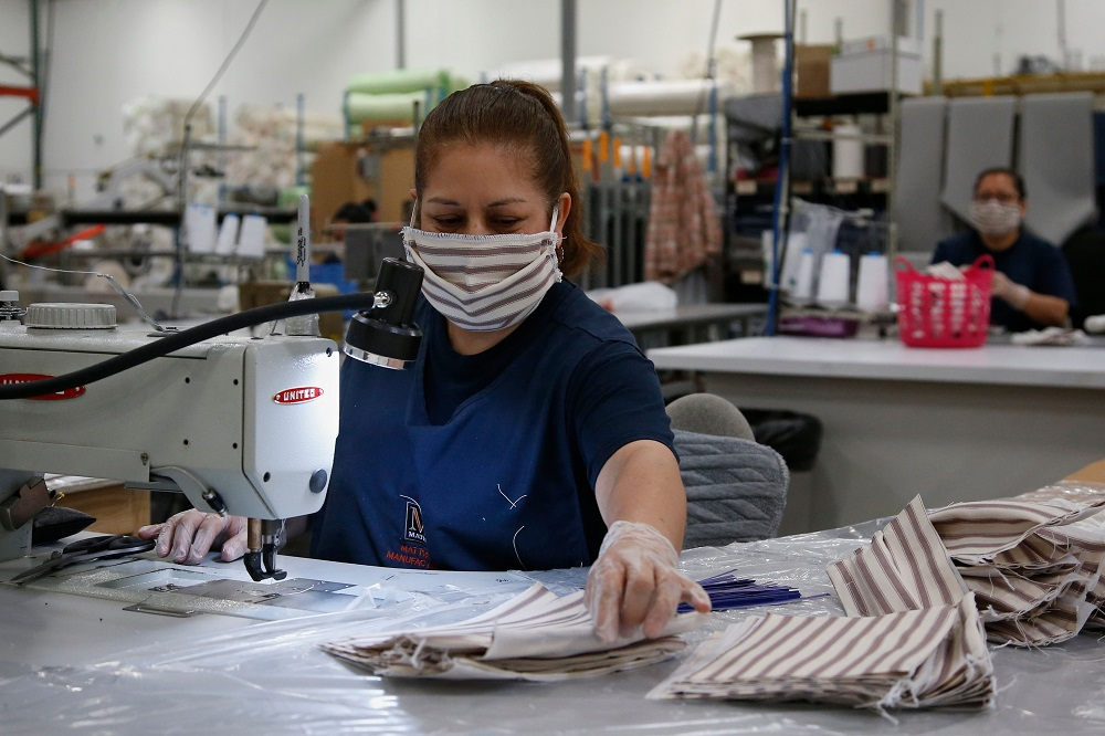 Apparel and textile factories from the U.S. to China to Vietnam are enforcing social distancing measures and tweaking daily operations.