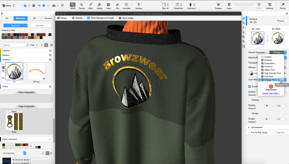 Browzwear, a 3D technology firm, is partnering with Adobe to integrate its Substance 3D texturing and materials design program.