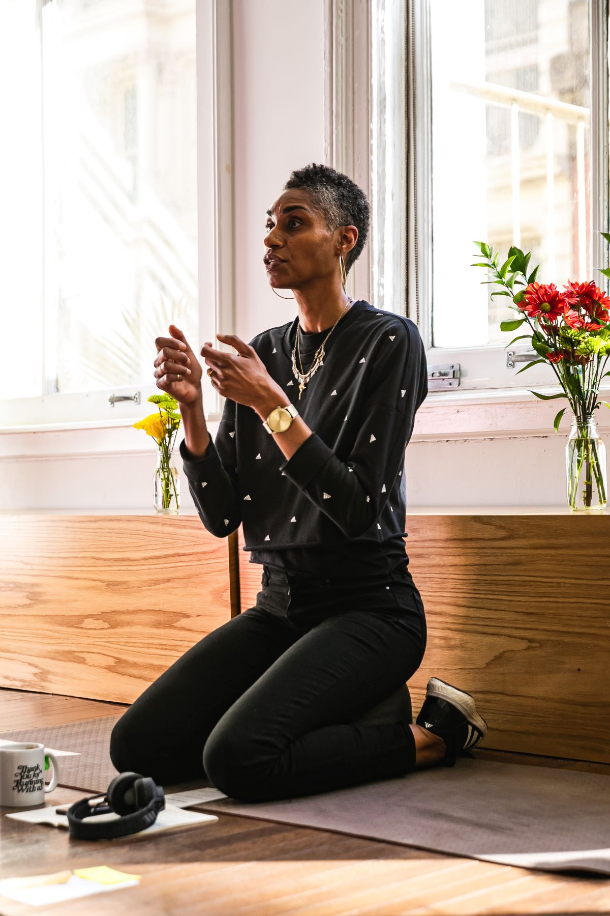 Adidas Running mindfulness coach Ameerah Omar connects virtually with the community's athletes during the coronavirus pandemic.