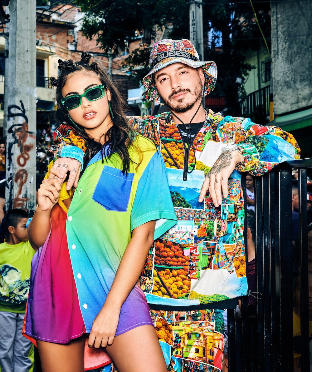 Guess and Colombian hitmaker J Balvin are back with a colorful new capsule collection for men, women and children dropping June 5.