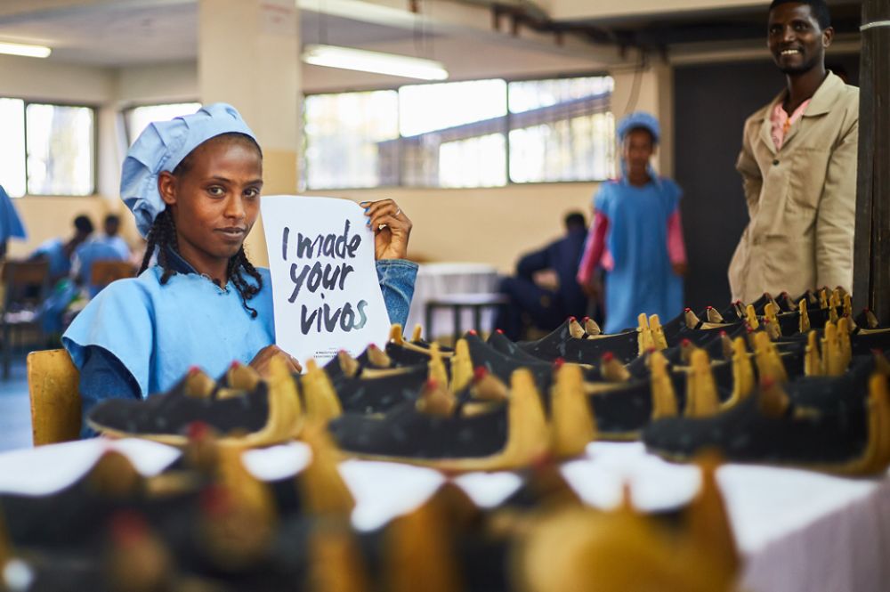 Vivobarefoot and Pittards produced a collection of handmade footwear in Addis Ababa, Ethiopia, supporting local artisans and factories.