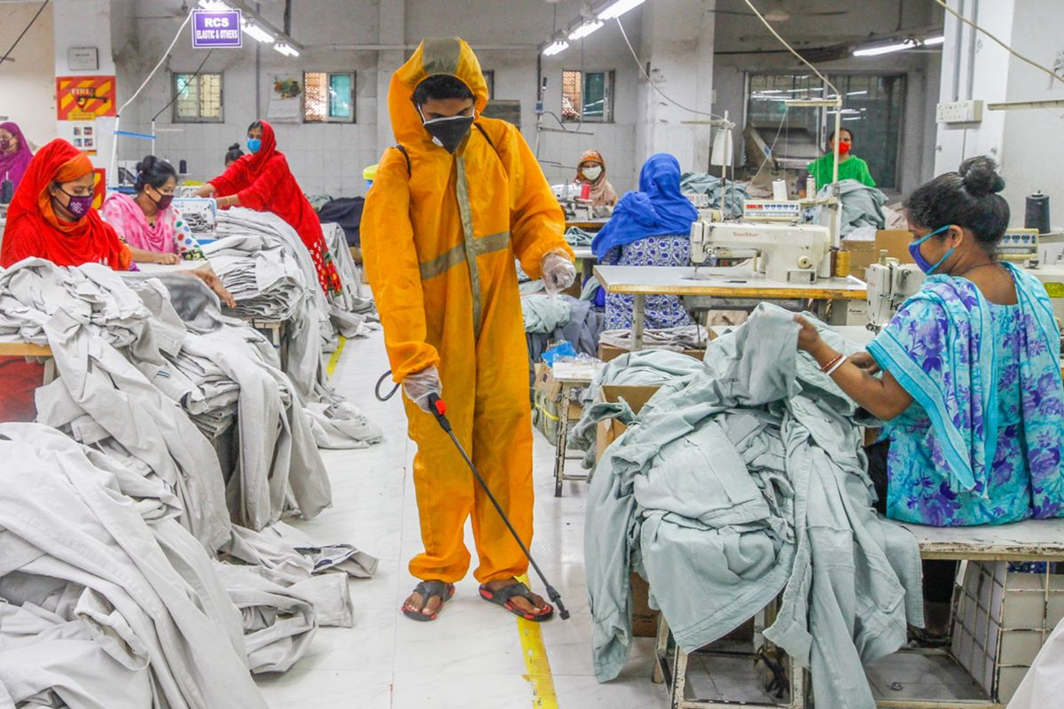 As apparel production resumes, managers and employees will need to navigate a new normal on the factory floor due to health considerations.