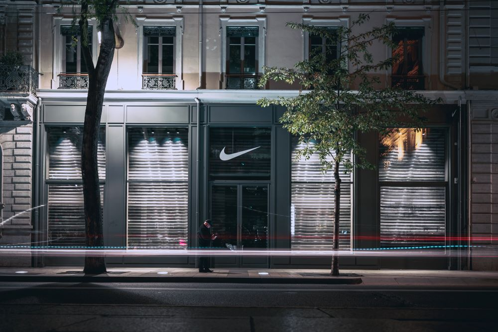 Nike says strong e-commerce demand in China and South Korea helps to make up for reduced store traffic, while few stores elsewhere are open.