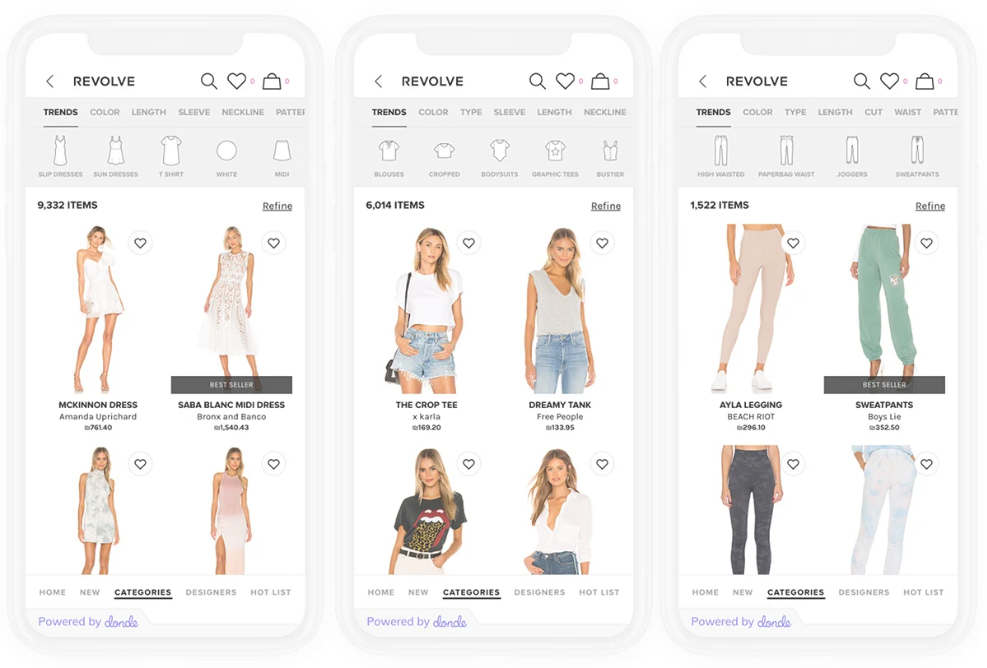 "Artificial intelligence-powered visual search navigation platform Donde Search unveiled ""Trends"" to inspire online fashion shoppers."