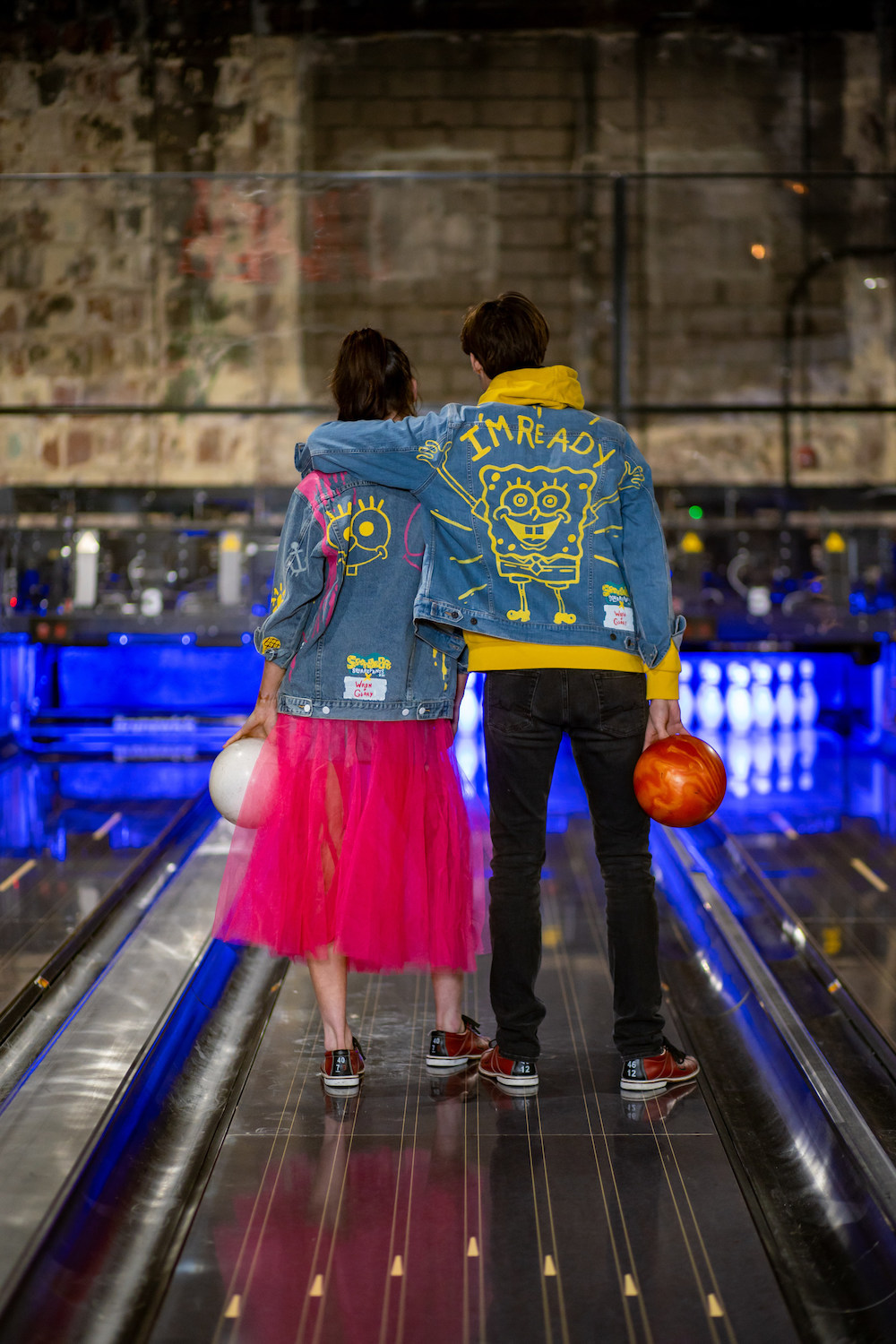 "Wren + Glory announced a cheerful collaboration with Nickelodeon's ""SpongeBob SquarePants,"" featuring hand-painted denim jackets."