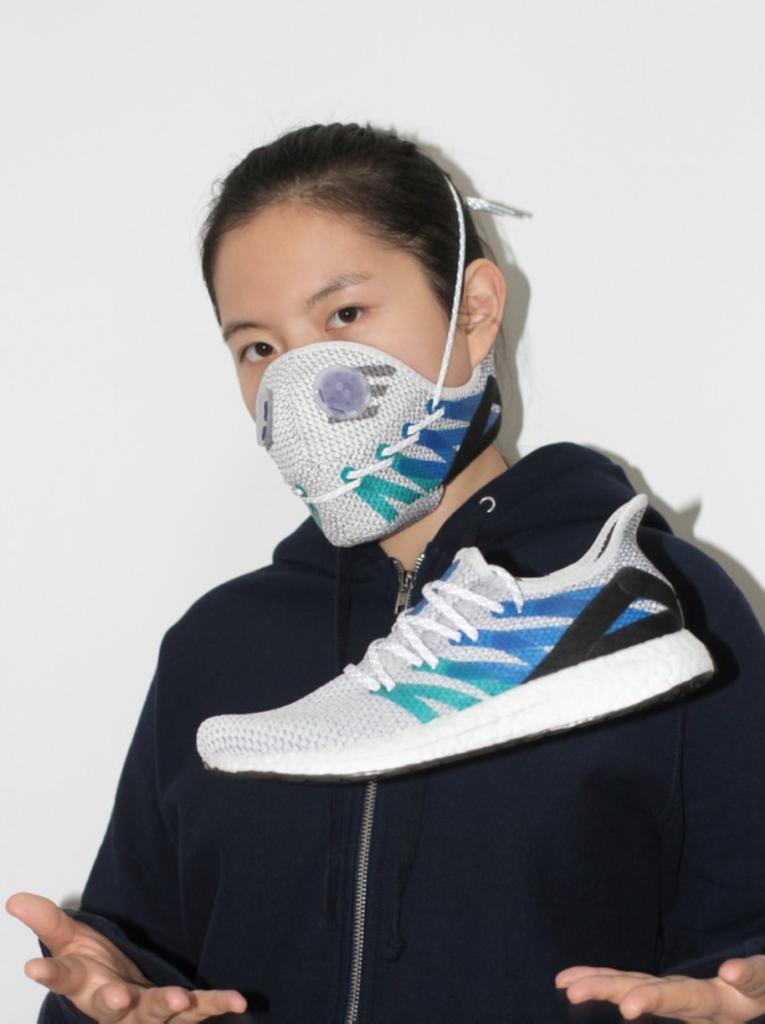 Zhijun Wang sneaker-inspired face mask.