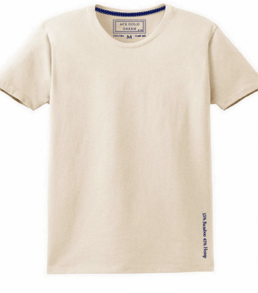 Adriano Goldschmied and Ace Rivington's Beau Lawrence launched Ace Gold Green to create a cotton-free T-shirt made of hemp and bamboo.