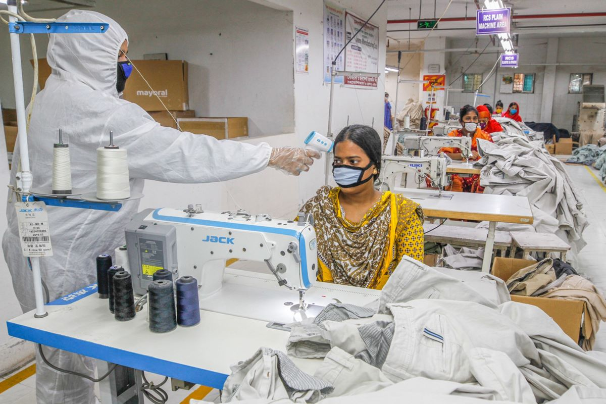 """Bangladesh's garment industry could see an """"irrecoverable loss"""" of $5 billion by the end of the fiscal year due to the coronavirus outbreak."""