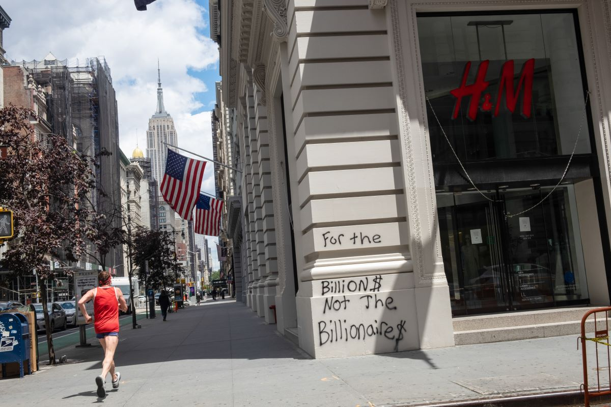 Hennes and Mauritz has closed nearly 100 of its store locations over protests in America related to the murder of George Floyd.