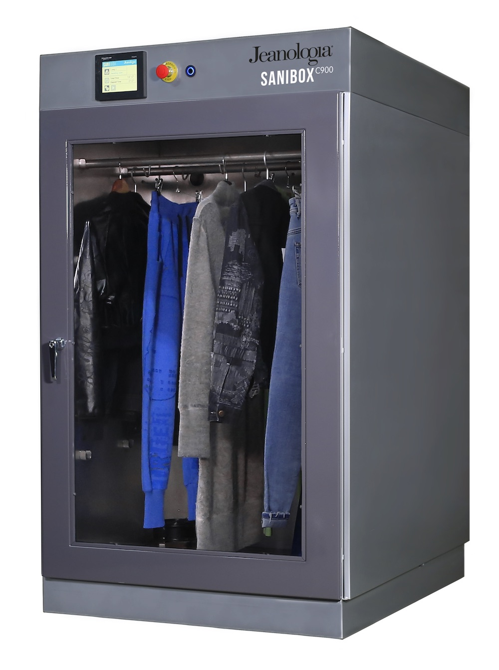 Spanish finishing technology company Jeanologia developed Sanibox, a chamber used to sanitize garments possibly carrying COVID-19.