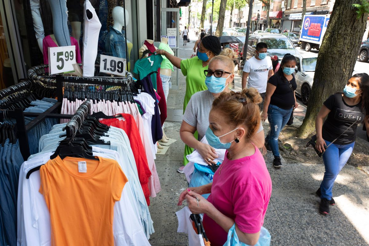 Retail apparel prices were down a seasonally adjusted 2.3 percent in May after declining 4.7 percent in April and 2 percent in March.
