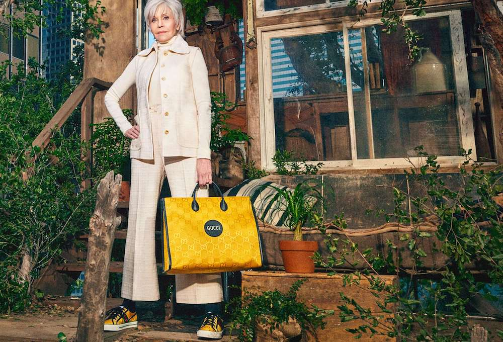 Gucci debuted Tuesday Off the Grid, the first collection from Gucci Circular Lines—a concept created to support the brand's vision for circular production.