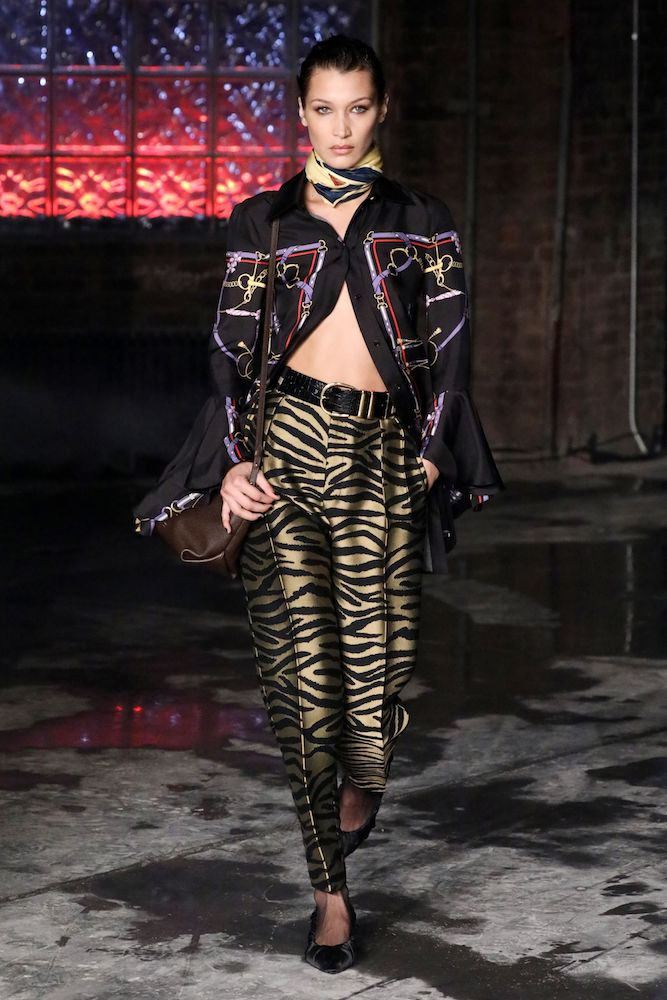 Over the last three months, searches for zebra print have increased 46 percent with a focus on ankle boots and trousers, Lyst reported.