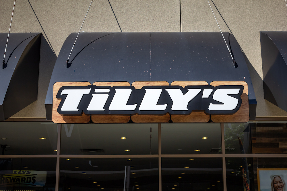 Tilly's said first-quarter sales dropped 40.7 percent though e-commerce, which integrated Afterpay's pay-later service, grew 54 percent.