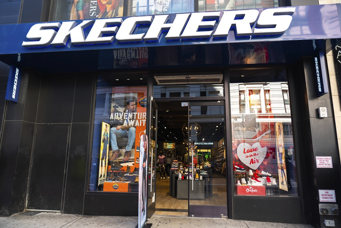 Skechers saw sales dip 42 percent, while online sales climbed 428.2 percent in the second quarter while stores were closed for coronavirus.