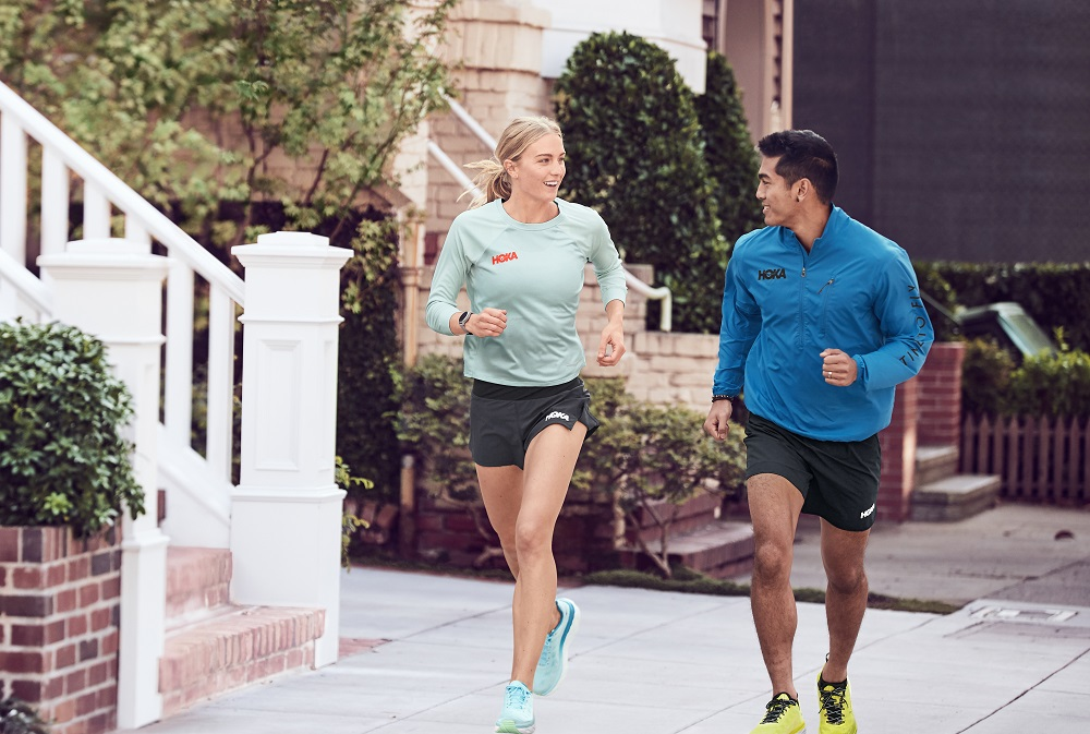 Hoka One One has partnered with Polartec on a collection of performance shirts for male and female athletes using Power Dry technology.