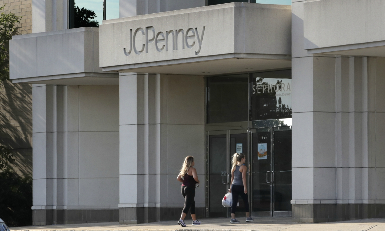 Bankrupt J. C. Penney's, seeing red for several quarters, had some good news after ending June's selling period in the black for a change.