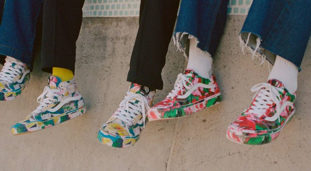 Paris fashion house Kenzo has partnered with California skate brand Vans for Spring-Summer 2020 in a new floral footwear collection.