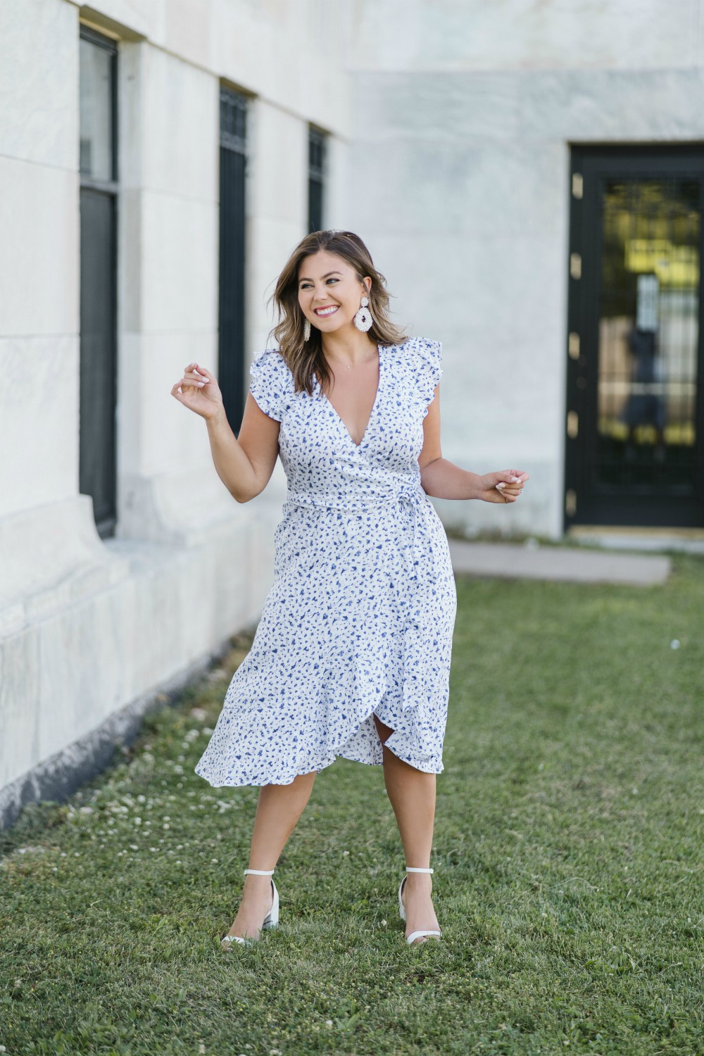 A wrap dress from blogger Caralyn Mirand's current The Drop collection.