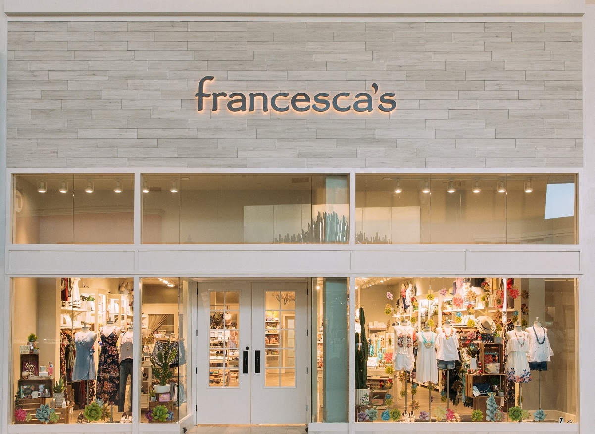 FraFrancesca's revealed a 50 percent sales drop to $43.8 million in first-quarter earnings report, but expects a less-alarming second quarter.ncesca's has reopened 674 of 702 boutiques, although most of them are operating at reduced capacity and hours in accordance with local regulations.
