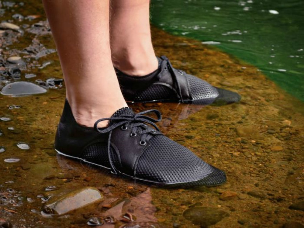 Oregon's family-run Softstar Shoes launched the 4.2 ounce Quick Dry Dash RunAmoc, a minimalist athletic shoe good for exploring wet terrain.