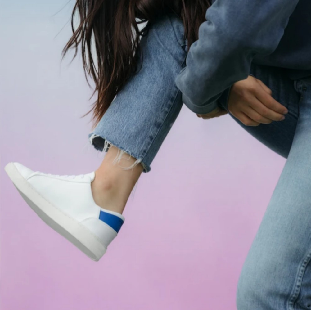 Thousand Fell's circular sneakers are made from sustainably sourced, recyclable materials.