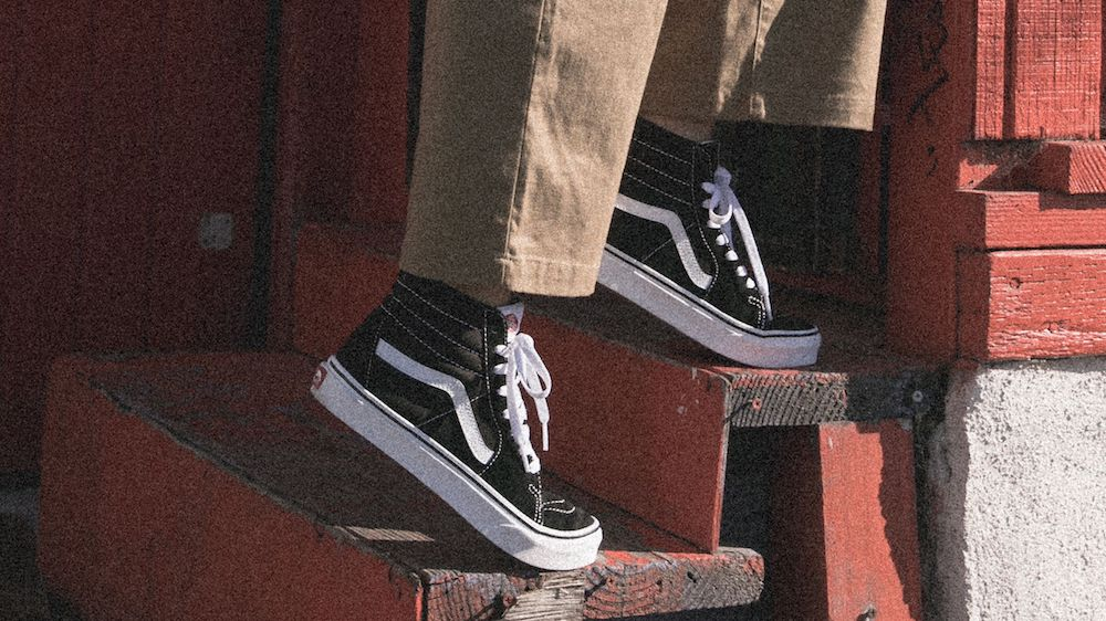 The Supreme x Vans Hole Punch Denim Collection features frayed denim updates to classic Vans Sk8-Hi and Slip-On sneakers.