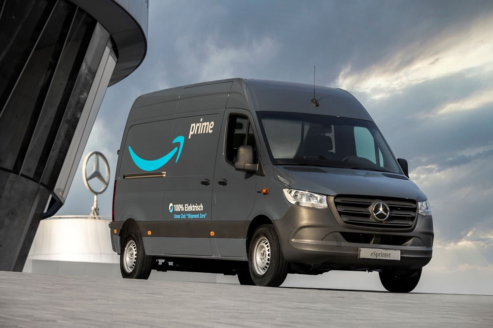 Amazon is adding more than climate-friendly 1,800 electric vehicles from Mercedes-Benz Vans to its delivery fleet in Europe this year.