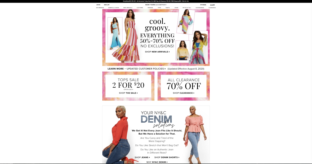 Second chances were given to New York & Co. and Fashion to Figure after sale to Saadi Group, which will operate the businesses online.