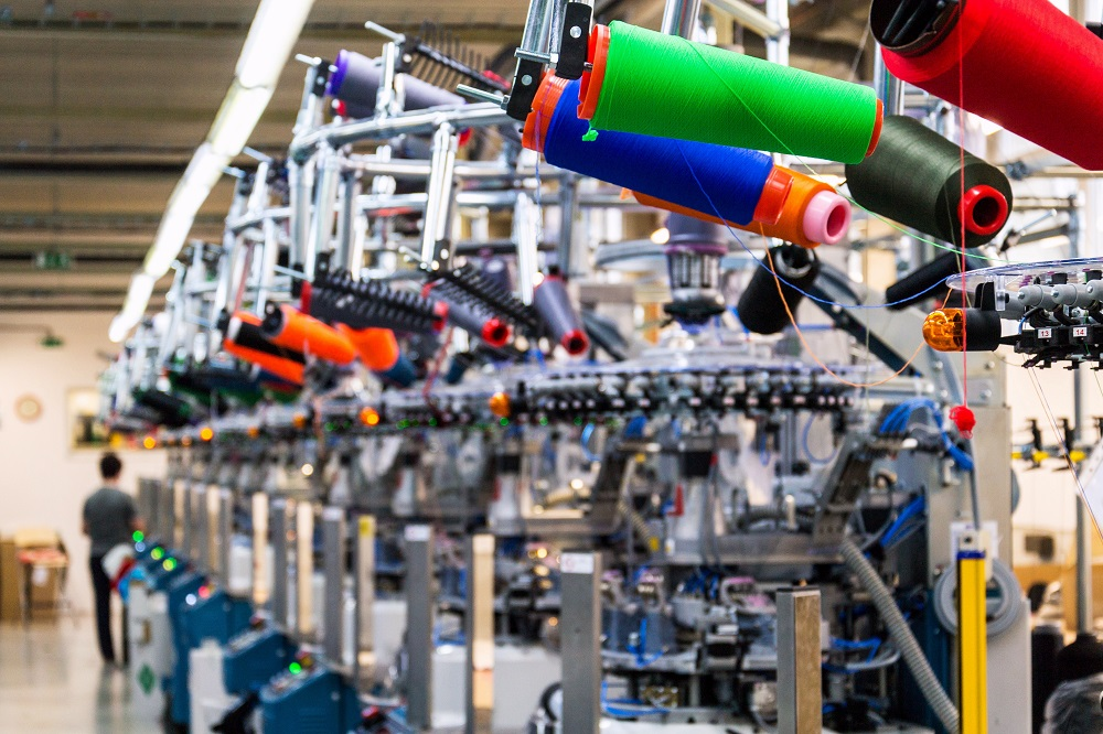 Economic activity in the manufacturing sector grew in July, with textile mills, and apparel and leather products reporting increases.