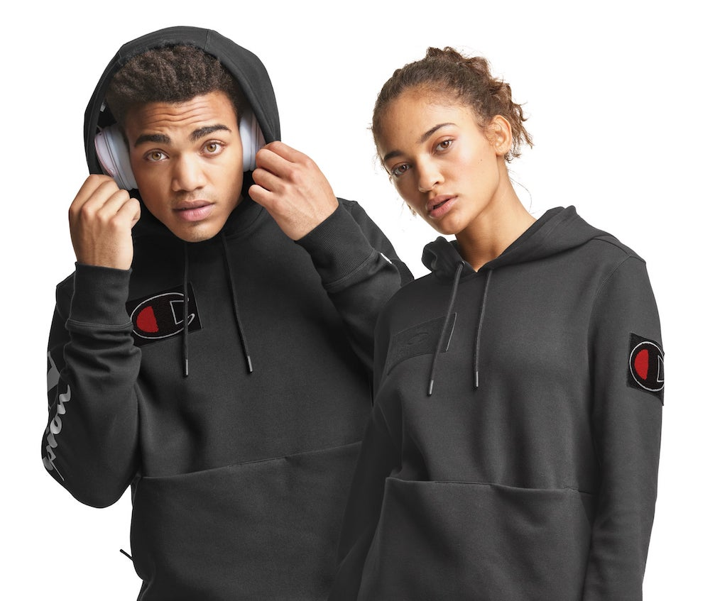 Champion unveiled Wednesday its first patent pending sweatshirt design since 1952 geared toward the gaming community.