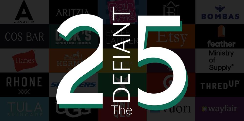 The Lead's Defiant 25 of 2020 includes fashion brands such as Aritzia, Birdies, Bombas, Dick's, Hanes, Skechers, StockX, Uniqlo and Vuori.