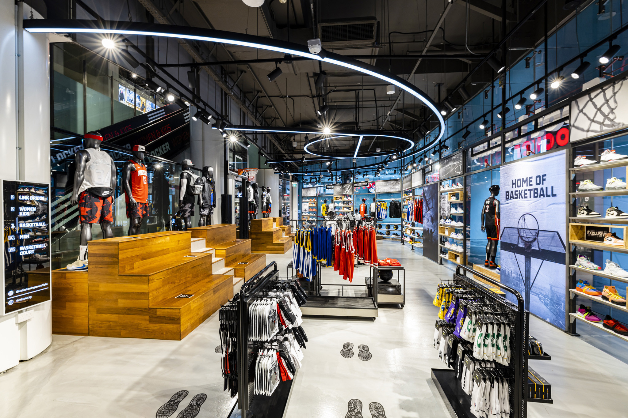 Foot Locker is opening its sixth and largest store to date in Singapore and is making its debut in Macau, China, with two new locations.