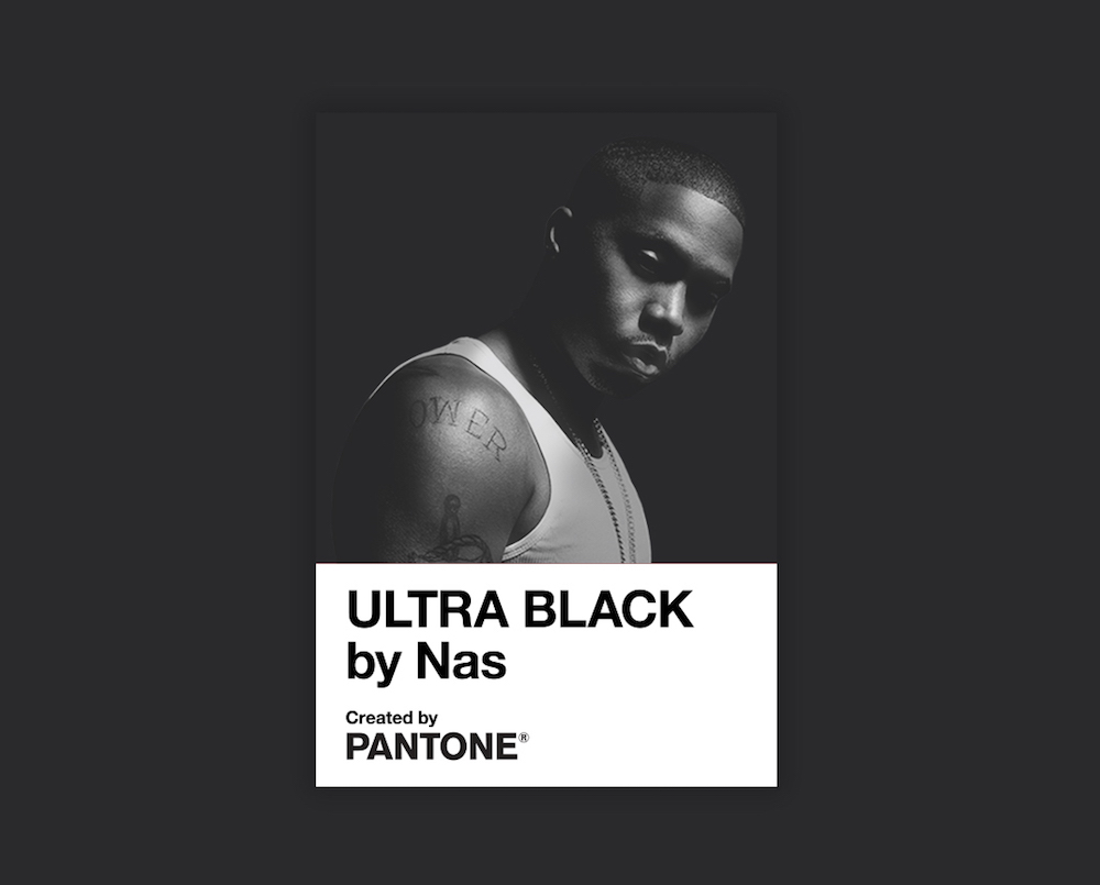 """To mark the release of Nas' new single """"Ultra Black,"""" Pantone Color Institute developed an exclusive color by the same name."""