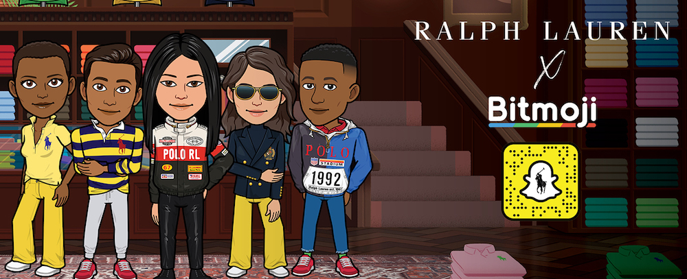 Ralph Lauren partners with Snap Inc. to offer branded digital fashion for Bitmoji avatars and activate branded street art in U.S. cities.