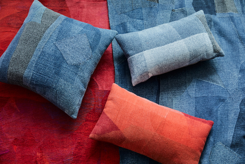Sustainable fashion brand Eileen Fisher and home goods company West Elm are elevated discarded jeans for the home.