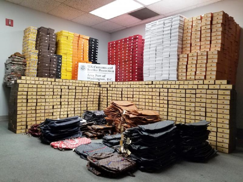 Customs and Border Protection officers at a Washington airport seized nearly $3 million in counterfeit goods and fashion from China.
