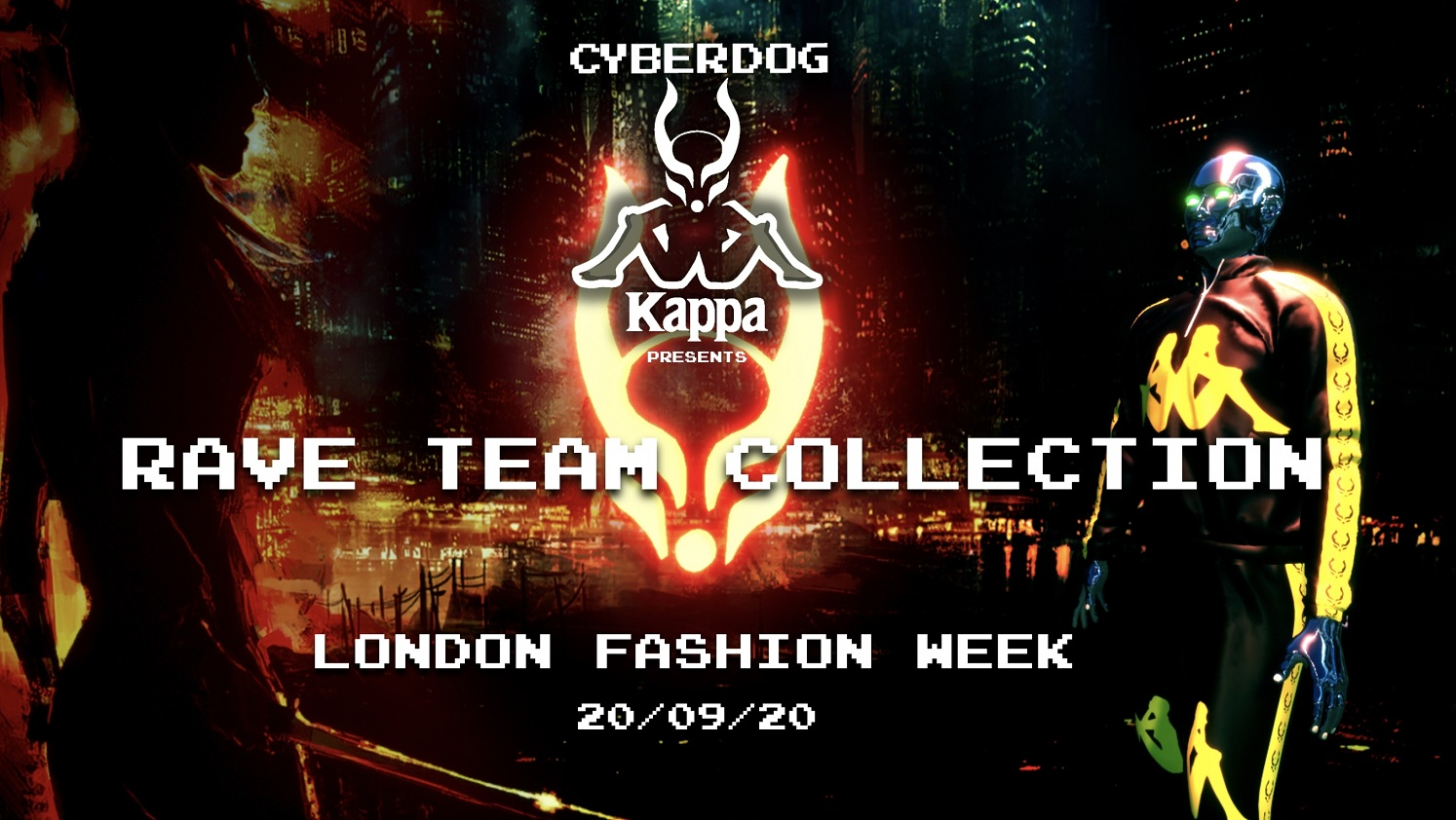 Fashion brands Cyberdog and Kappa unveil a new streetwear collection during a live virtual reality show during London Fashion Week.