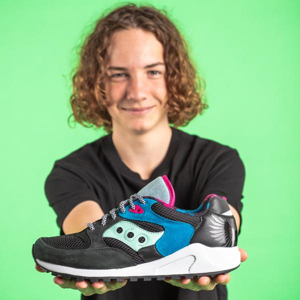 Saucony got help from six patient-artists at Boston Children's Hospital to debut its limited-edition Shoes with Soul footwear collection.