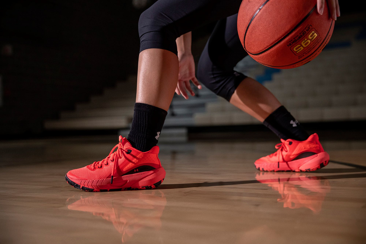 Dick's Sporting Goods and Under Armour jointly released the UA HOVR Breakthru, a shoe designed by and for female basketball players.