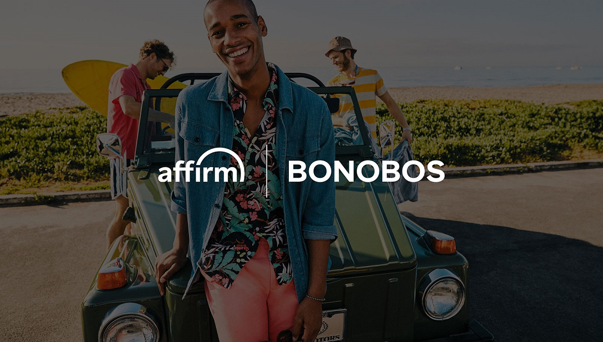 """Buy now, pay later"" platform provider Affirm has partnered with Bonobos customers can now pay for their purchase over three months, without interest or late fees."